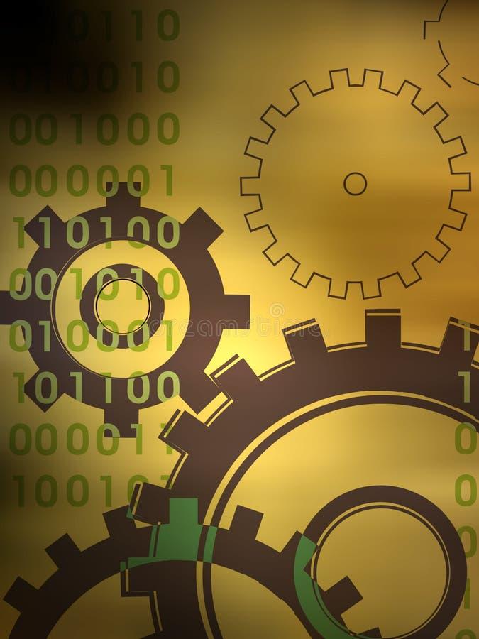 Golden gears vector illustration