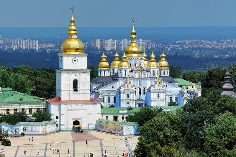 Golden-Gewölbtes Kloster Str.-Michaels in Kiew stockfoto