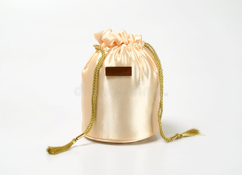 Golden Gift Bag royalty free stock image