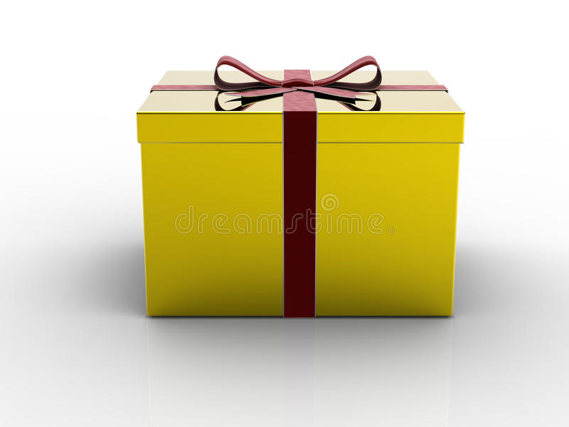 Download Golden gift box stock illustration. Image of birthday - 11376079