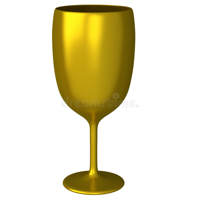 Golden glass 3d stock illustration
