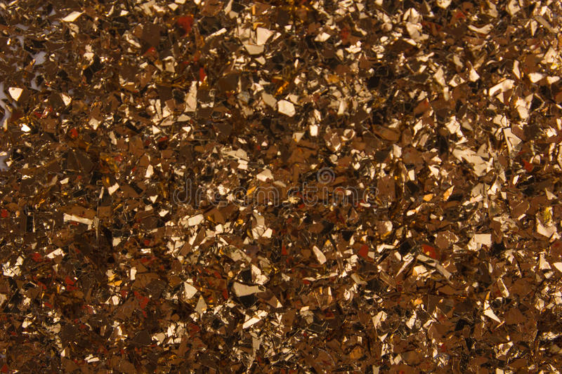 Golden glass granules background royalty free stock images
