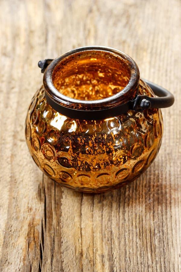 Free Golden Glass Lantern On Wooden Table Stock Photos - 38497523