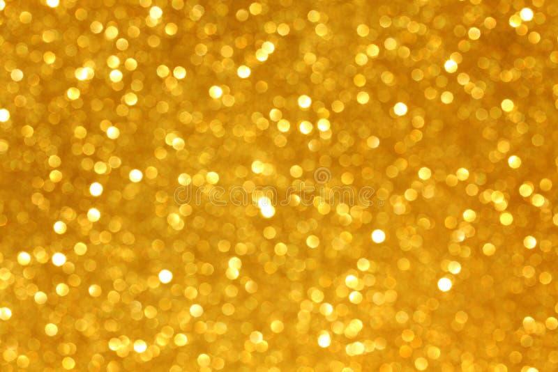 Golden glitter. Christmas background close up