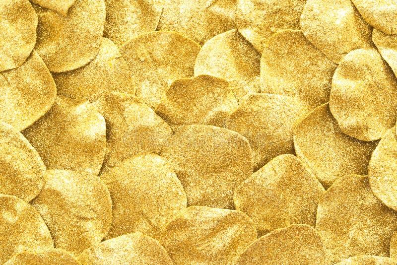 Golden glitter background. Golden glitter sparkles for background stock images