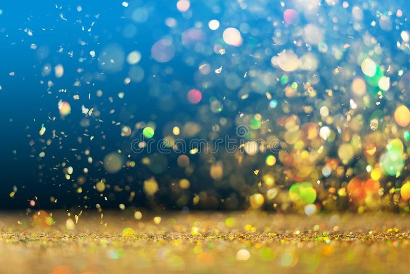 Golden glitter background stock photography