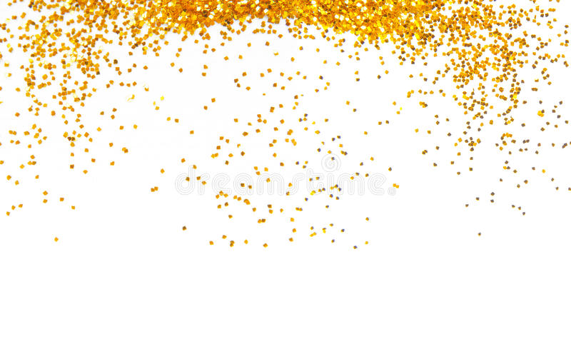Golden glitter frame background stock photos