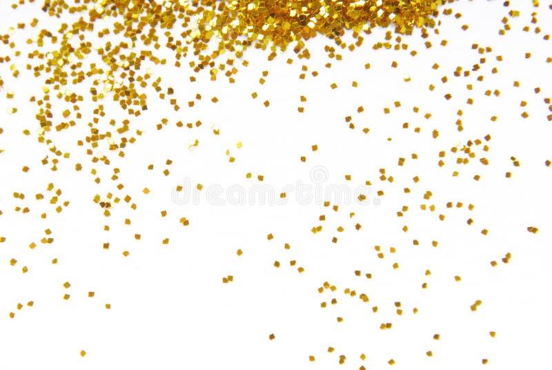 Golden glitter frame background stock photography