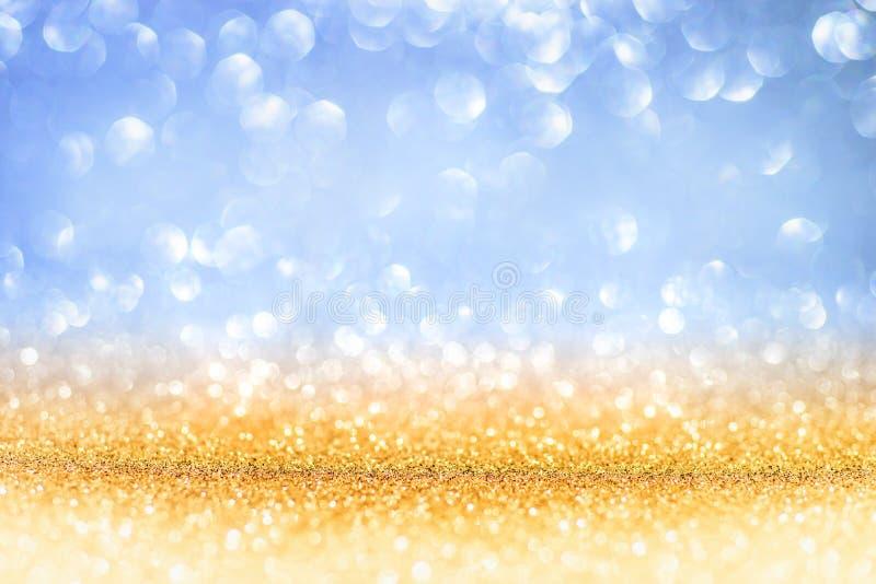Golden Glitter On Shiny backdrop royalty free stock photo