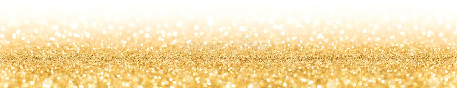 Golden Glitter With Sparkle Of Lights royalty free stock photo