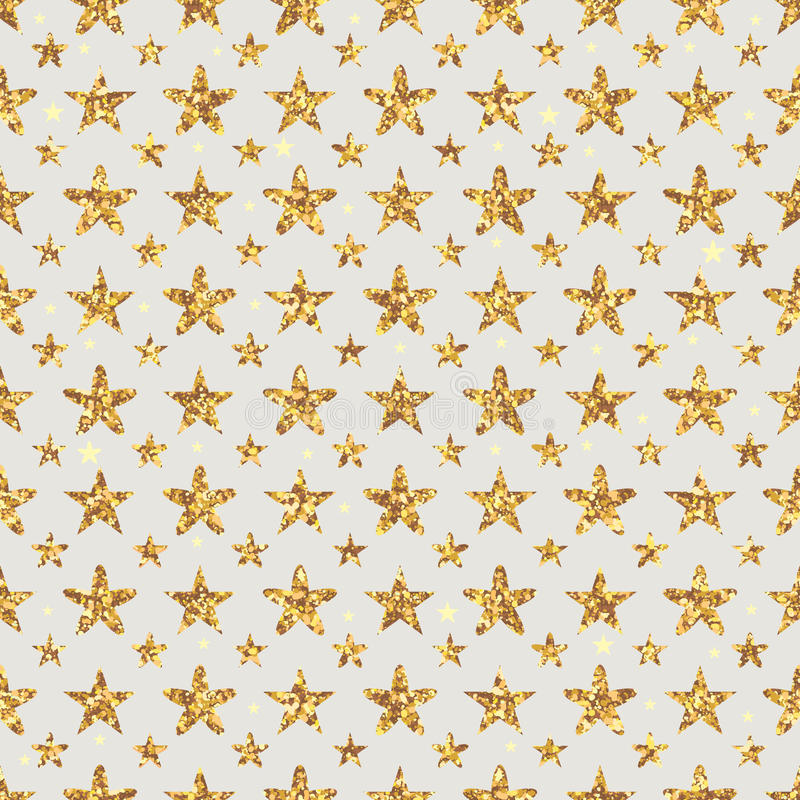 Free Golden Glitter Star Flower Symmetry Seamless Pattern Royalty Free Stock Images - 63865719