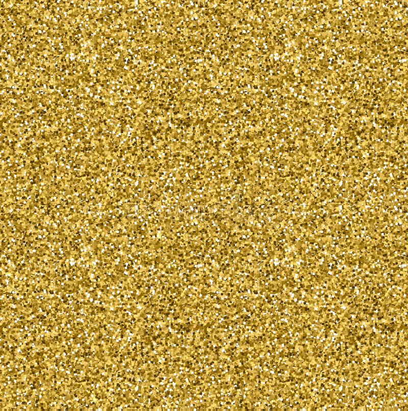 Golden glitter texture seamless pattern in gold style. Vector design. stock image