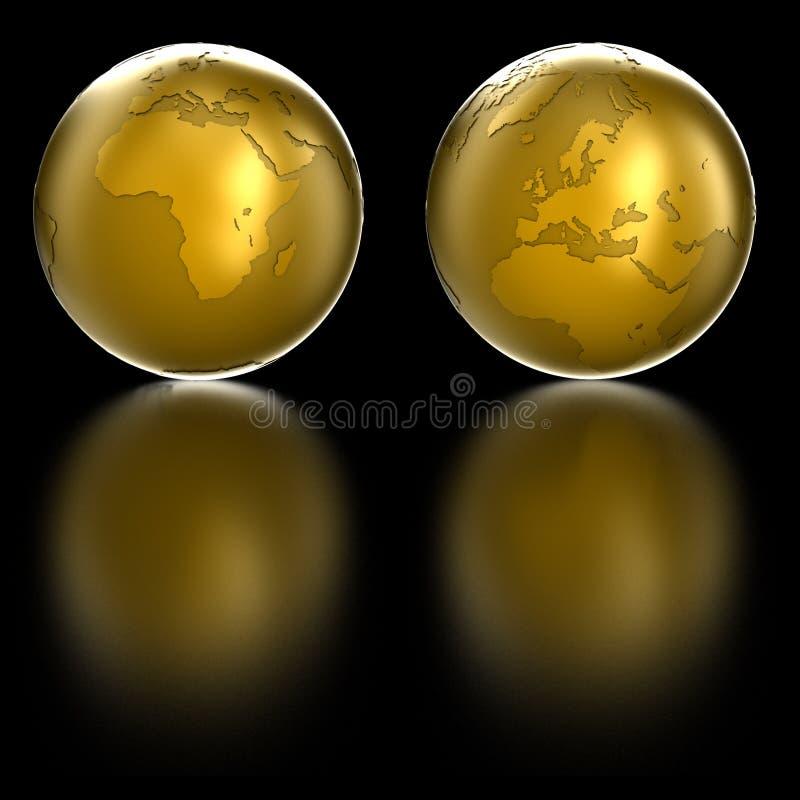 Download Golden Globe stock illustration. Illustration of perception - 10412763