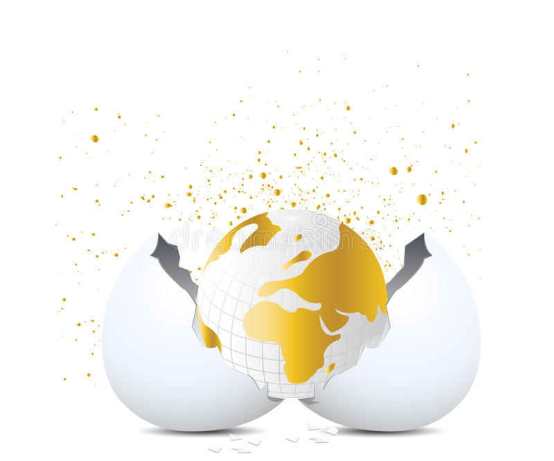 Golden globe stock illustration
