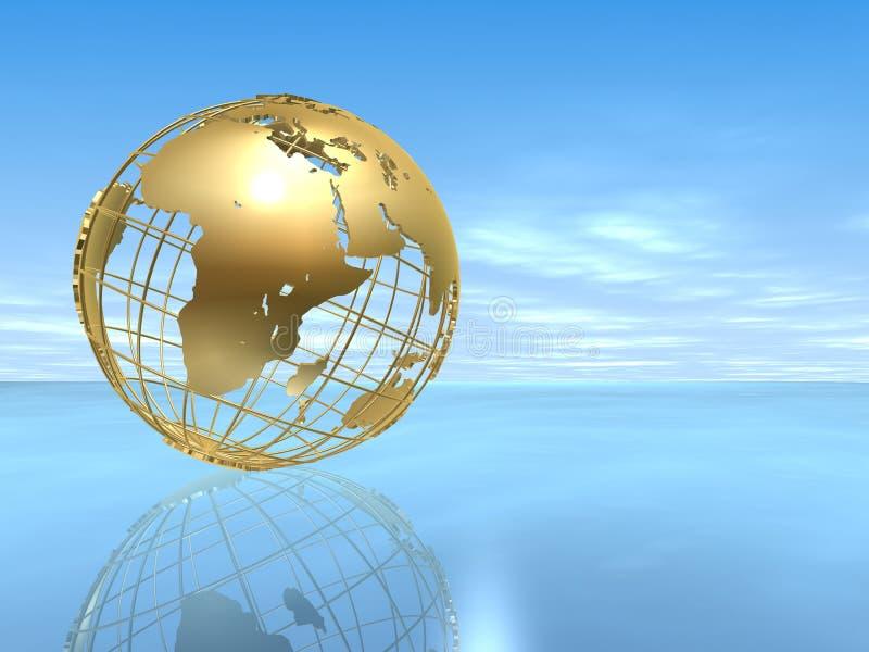 Golden globe royalty free illustration