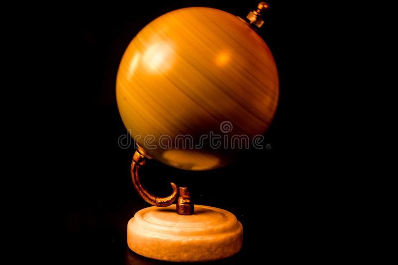 Golden Globe que gira ao redor fotografia de stock royalty free