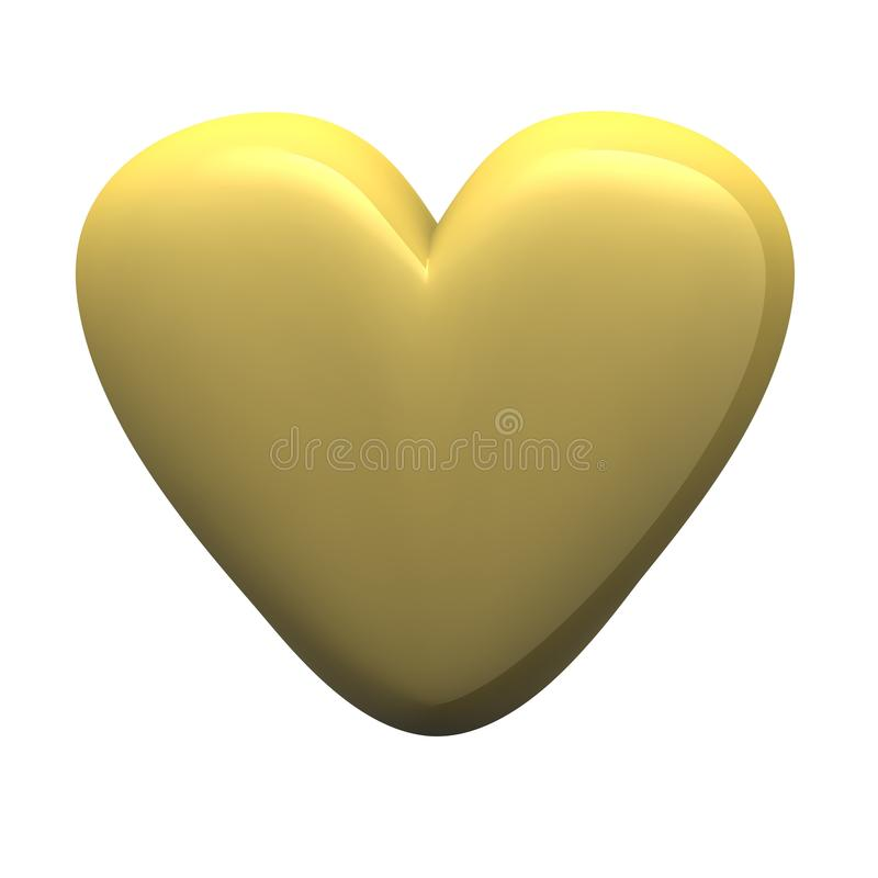 Golden Glossy Heart Royalty Free Stock Photos