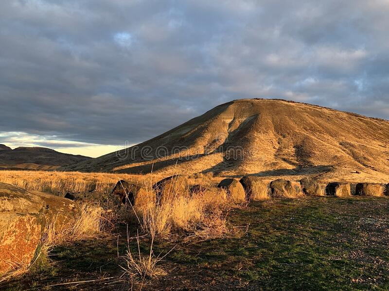 Sunrise on the Painted Hills stock photography