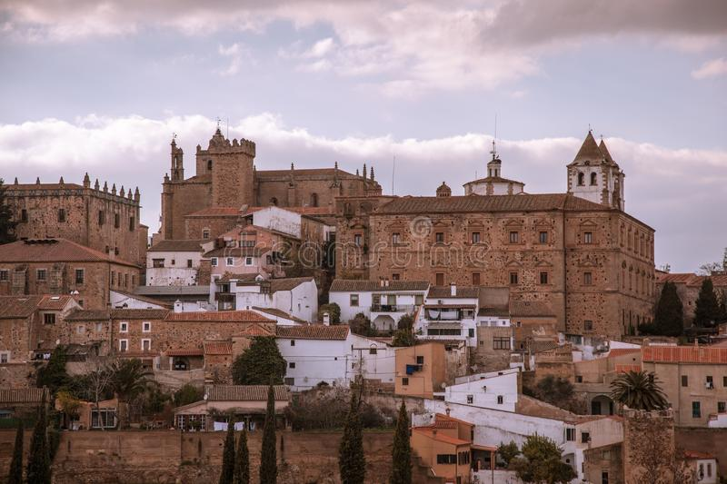 Ancient Walled city of Caceres Spain