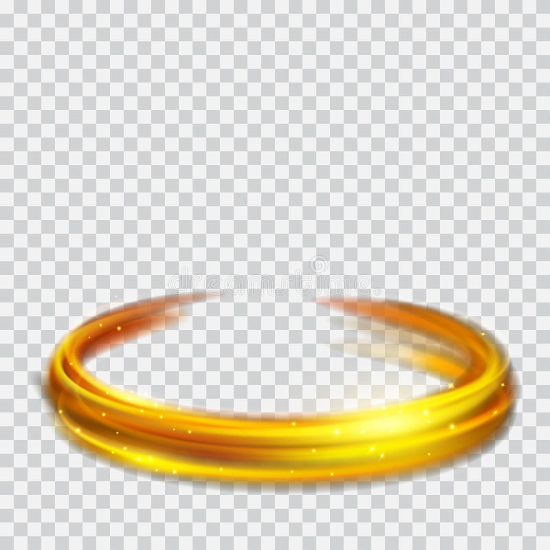 Free Golden Glowing Fire Rings With Glitters Stock Image - 95050961