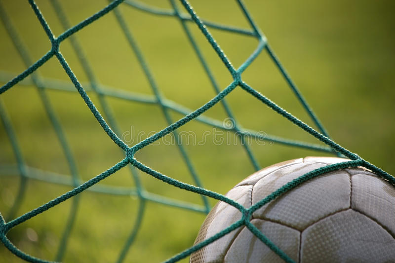Golden goal royalty free stock photo