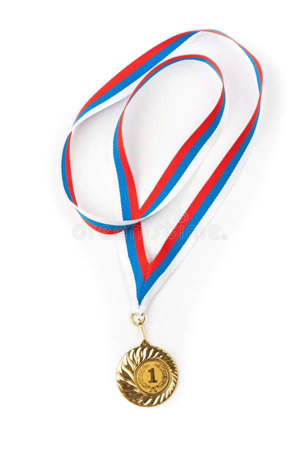 Download Golden Or Gold Medal Isolated Closeup Stock Image - Image: 14312747