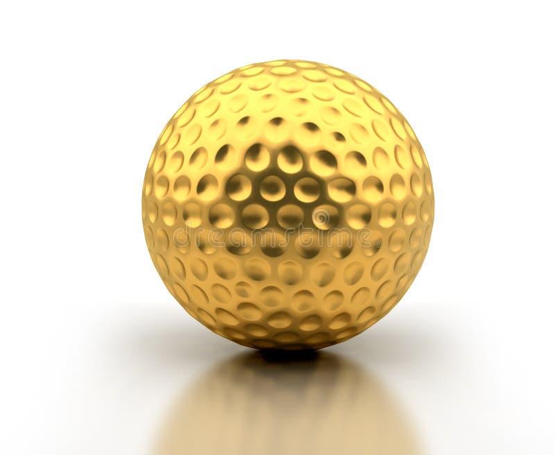 Golden Golf Ball royalty free stock photos