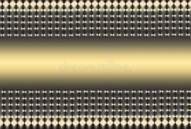 Golden Grey Mesh vector illustration