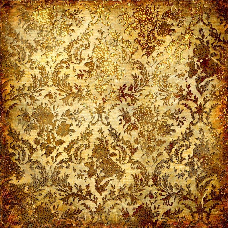 Golden grunge background royalty free illustration