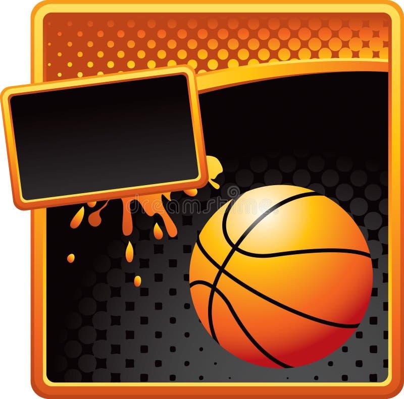 Golden Grunge Basketball Template Stock Vector - Illustration of ...