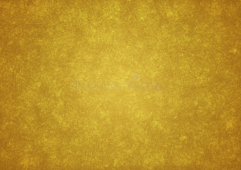 Golden Grunge Wall Texture for Abstract Background zdjęcia royalty free