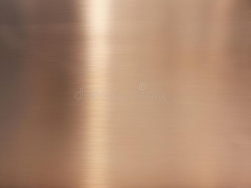 Golden hairline stainless steel. Shiny gold foil, bronze, or copper metal pattern surface texture. Close-up of interior material stock image