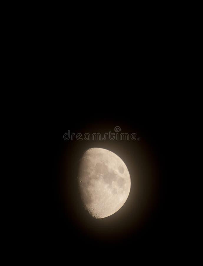 Download Golden Moon In Midnight Sky Stock Photo - Image: 99553032