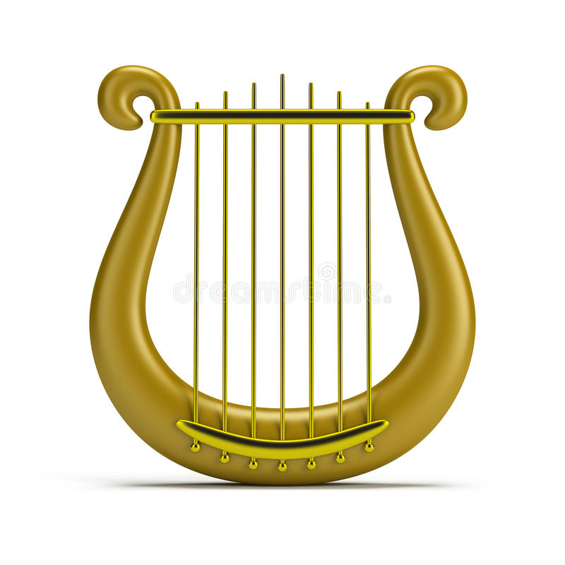 Golden harp stock illustration