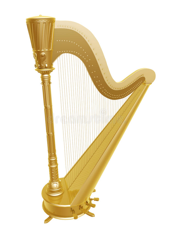 Download Golden harp stock illustration. Illustration of decorative - 28781872