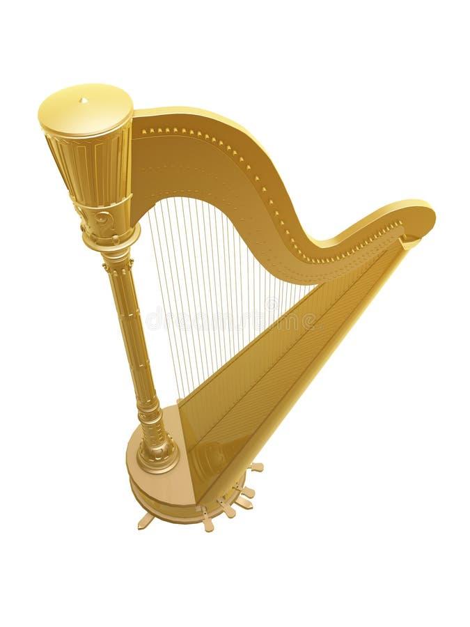 Download Golden harp stock illustration. Image of harp, equipment - 28781894