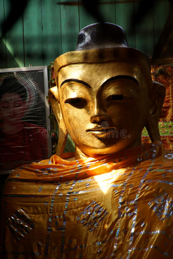Golden head of Buddha royalty free stock images