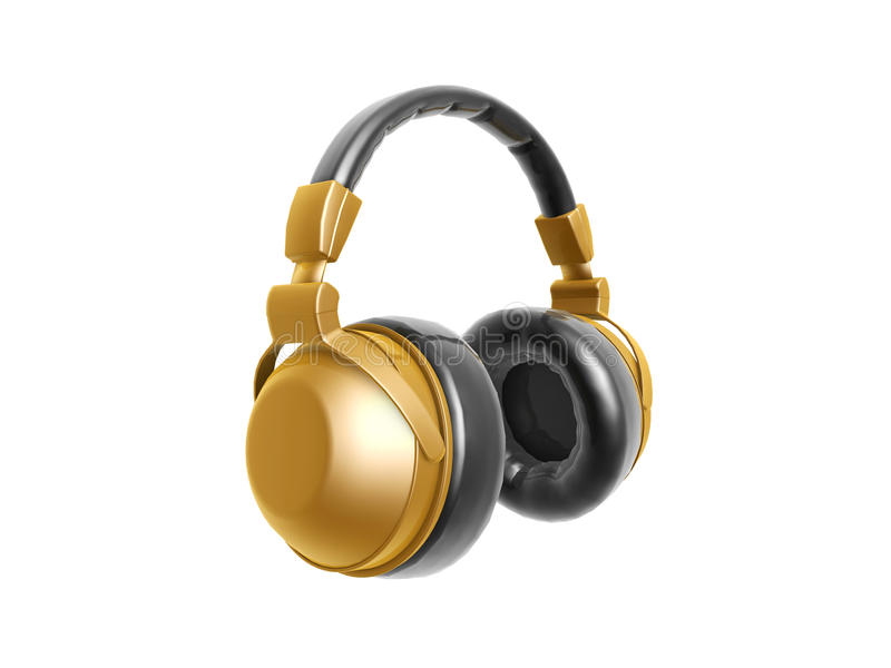 Golden headphone