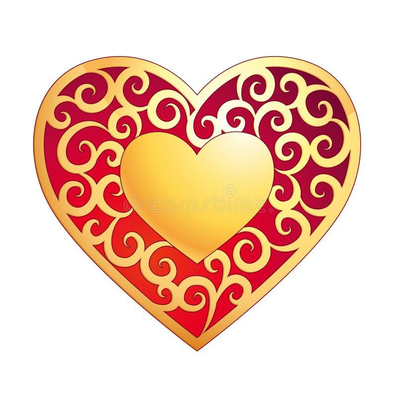 Golden Heart Stock Photo