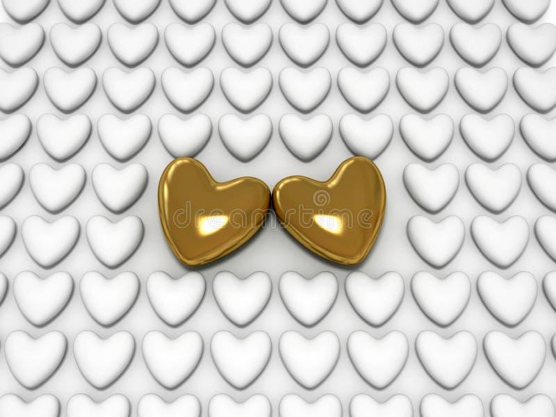 Download Golden Heart stock illustration. Image of pendant, close - 12803449