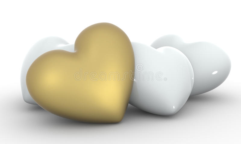 Download Golden Heart Royalty Free Stock Photos - Image: 14757448
