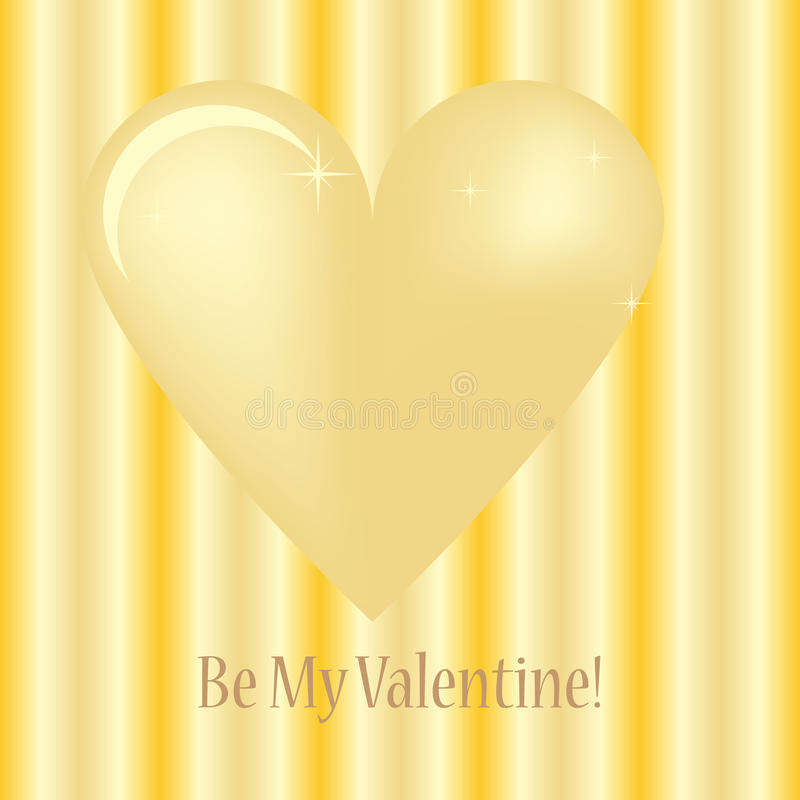Download Golden heart stock vector. Image of greeting, light, lovely - 17725749