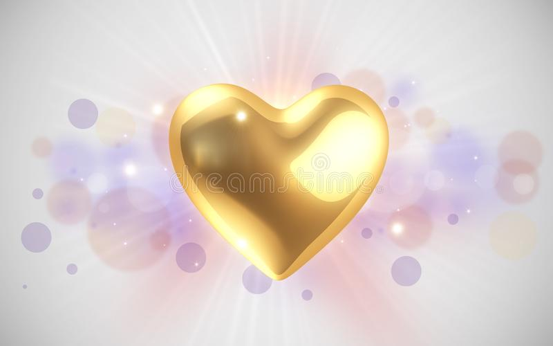 Download Golden Heart Royalty Free Stock Image - Image: 18583096