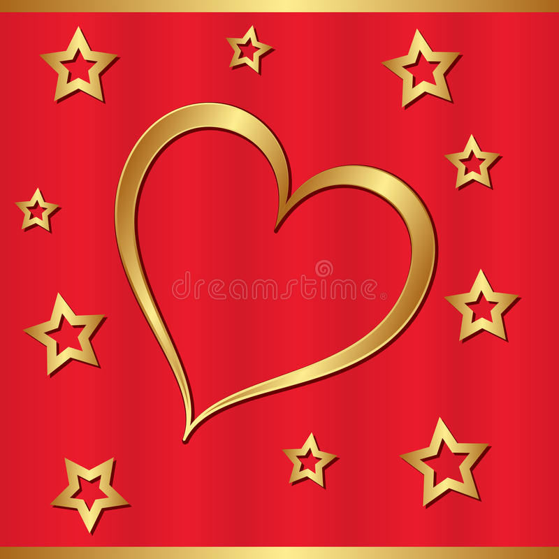 Download Golden heart stock vector. Image of romance, clip, gold - 28131964