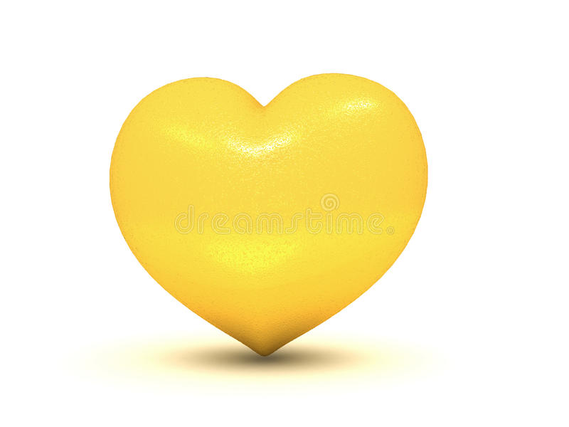 Download Golden heart stock illustration. Image of love, golden - 28494320