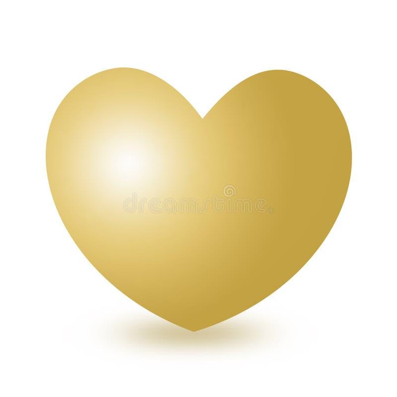 Download Golden heart stock illustration. Image of boyfriend, celebration - 5026209