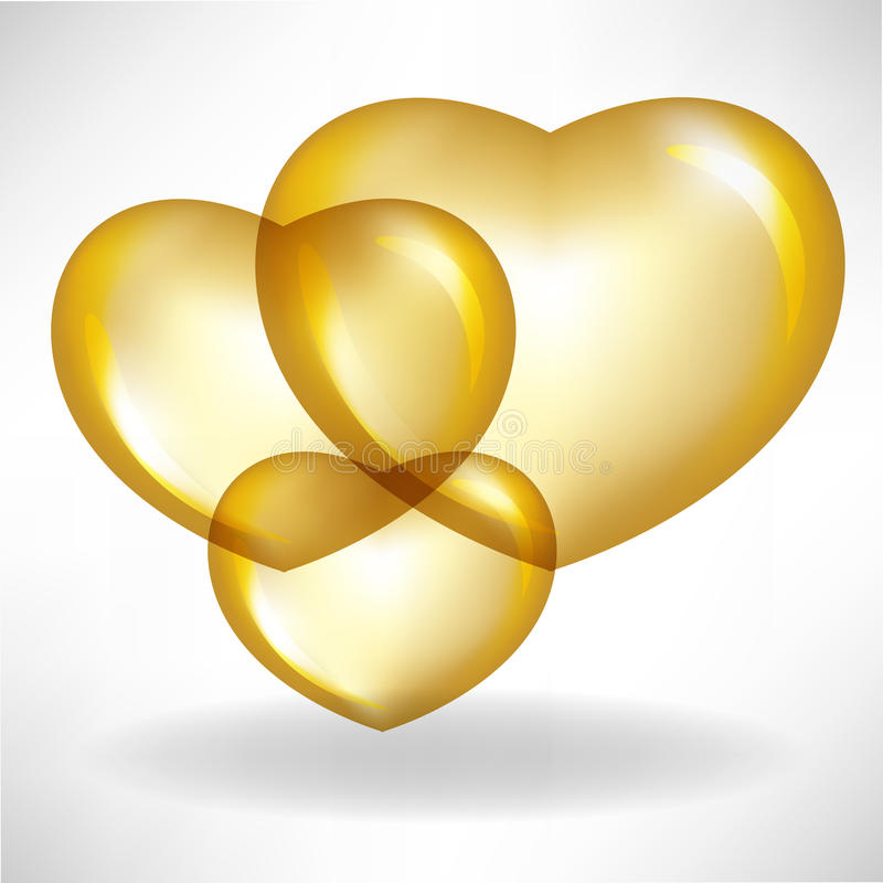 Download Golden heart balloons stock vector. Illustration of floating - 21542371