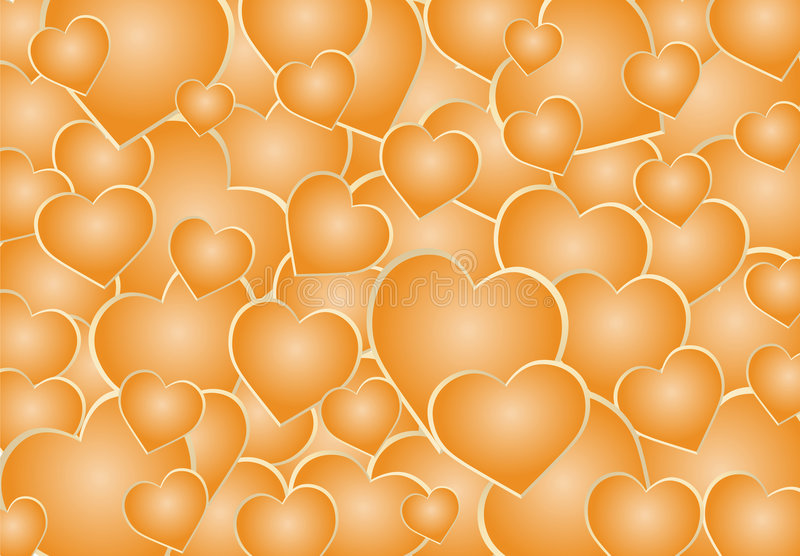 Golden hearts royalty free stock photography