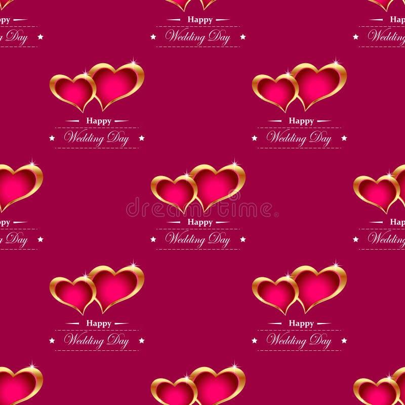 Golden hearts background vector royalty free illustration