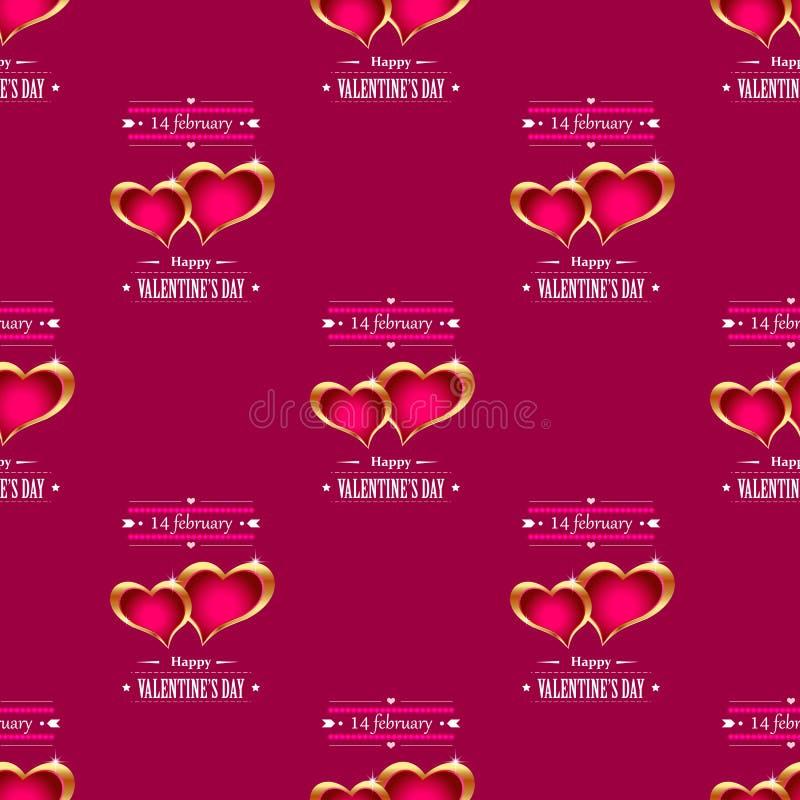 Golden hearts background vector stock illustration